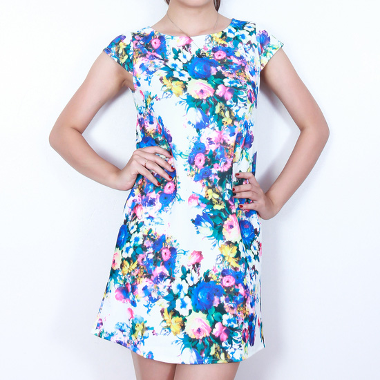 Váy suông họa tiết hoa thời trang
