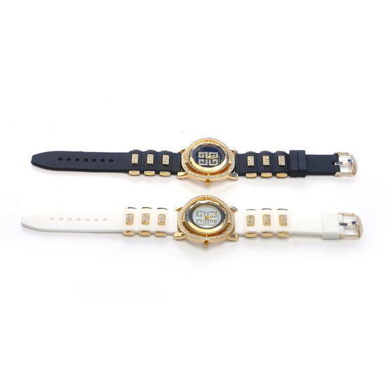 Đồng hồ nữ mặt tròn viền hạt