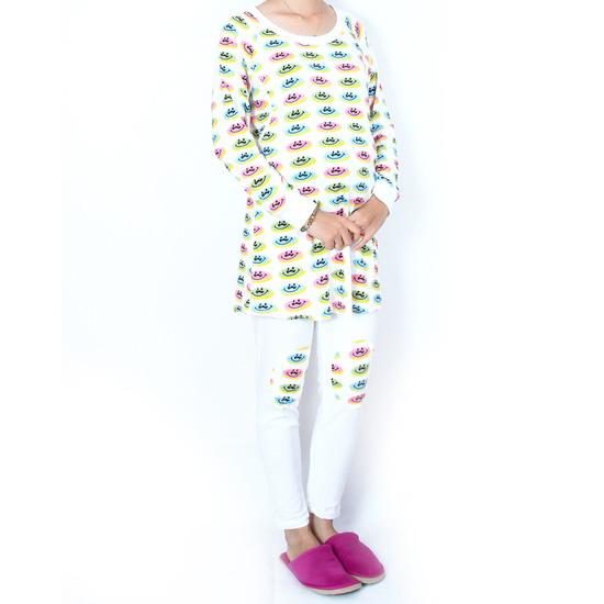 Bộ đồ mặc nhà kết hợp cho bé bú tiện dụng