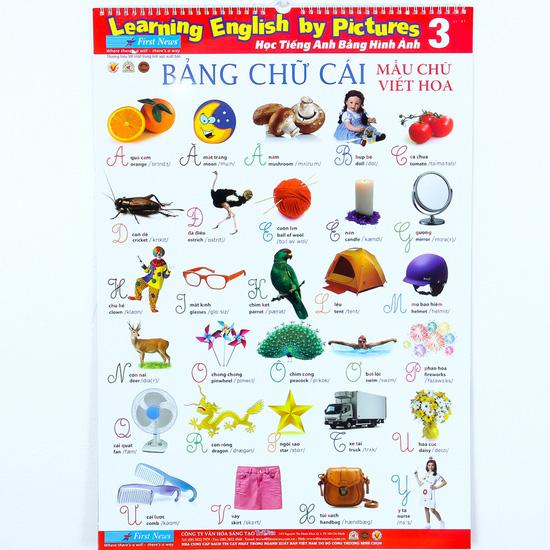 Bộ 3 Poster học tiếng Anh cho bé