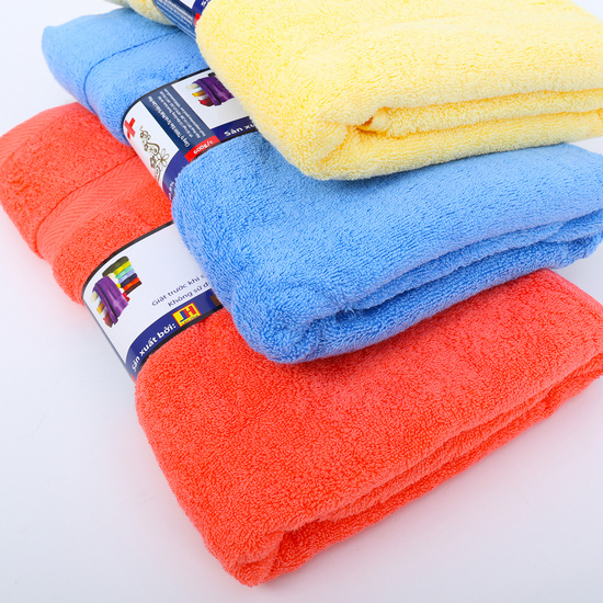 Khăn tắm Silk 100% cotton tự nhiên 70cm x 140cm