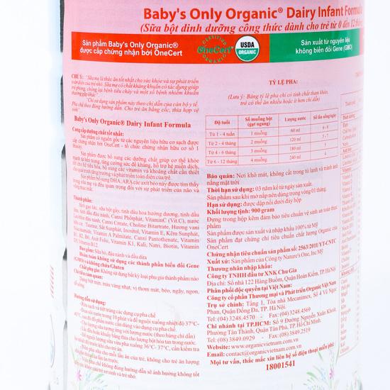 Sữa Baby Only Organic 900 gr