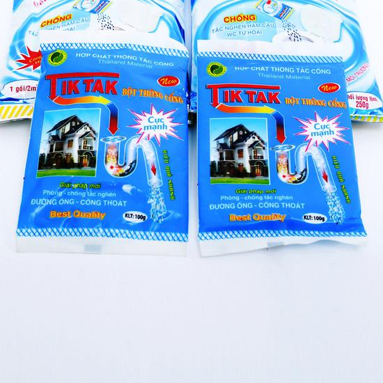 2 gói Bio bể phốt công nghệ sinh học + 2 gói bột thông cống Tiktak