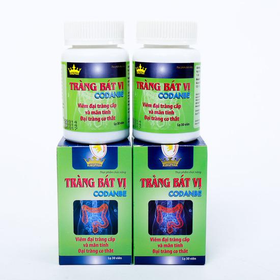 2 hộp Tràng bát vị hỗ trợ điều trị viêm đại tràng cấp và mãn tính