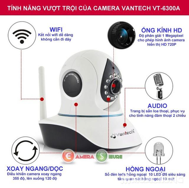 Camera wifi không dây thông minh Vantech 6300A - 7