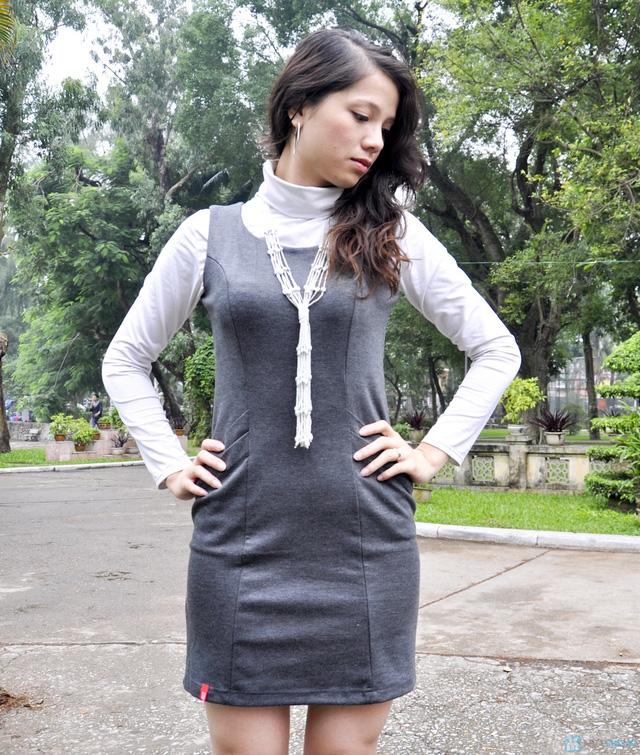 Váy liền công sở mùa thu - 4