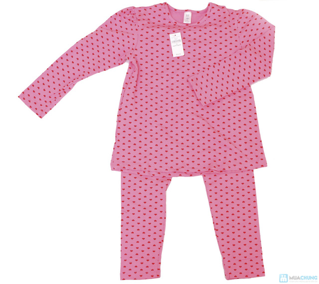 Bộ quần áo cho bé gái hình tim chất liệu cotton co giãn - 2