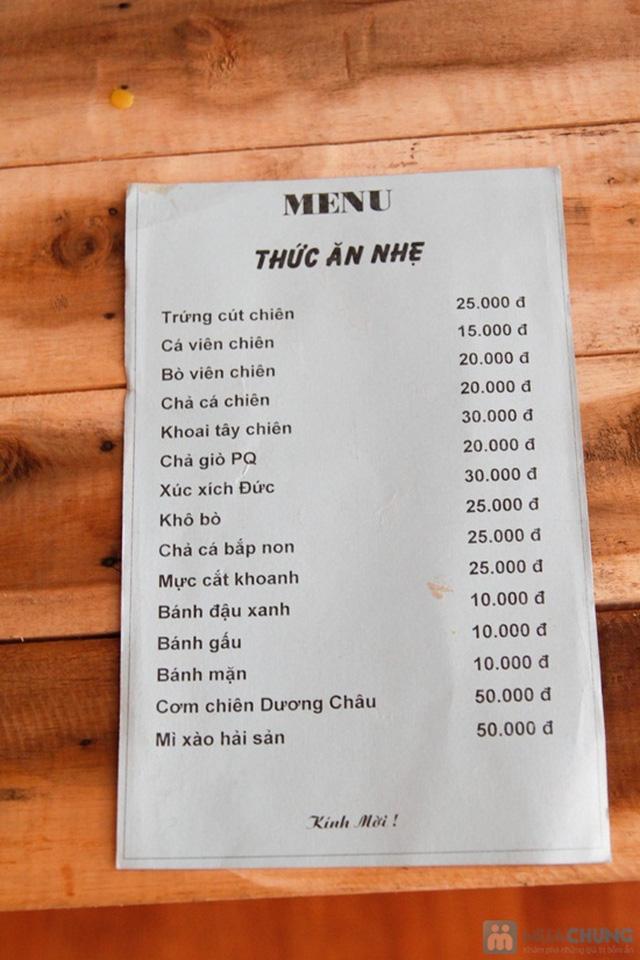 Combo ăn bánh-uống trà dành cho 2 người tại PQ trà quán - Chỉ 30.000đ - 12