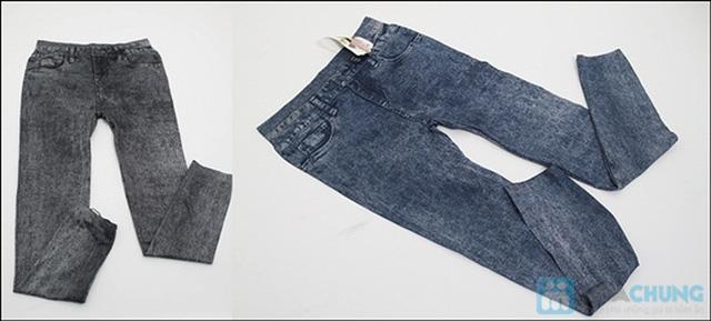 Quần legging dài giả jean cực chất - Bạn gái sành điệu và cá tính - Chỉ 75.000đ/01 chiếc - 4