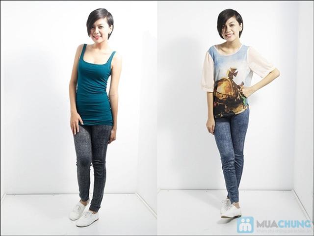 Quần legging dài giả jean cực chất - Bạn gái sành điệu và cá tính - Chỉ 75.000đ/01 chiếc - 3