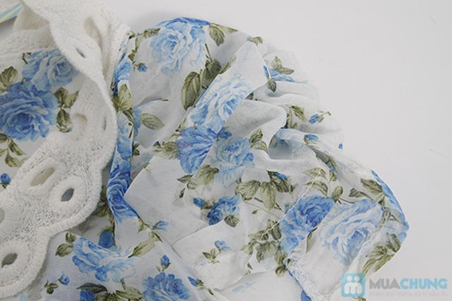 Áo voan hoa cổ ren, tay phồng nữ tính - Chỉ 110.000đ/01 áo - 6