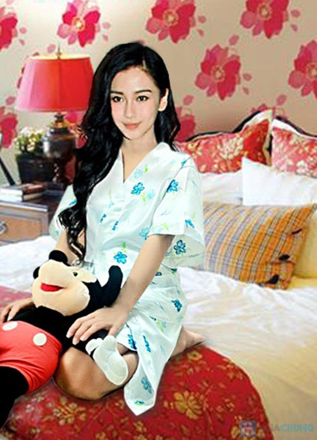 Đầm ngủ + Áo khoác sexy - Bạn gái gợi cảm và quyến rũ - Chỉ 105.000đ/01 chiếc - 1
