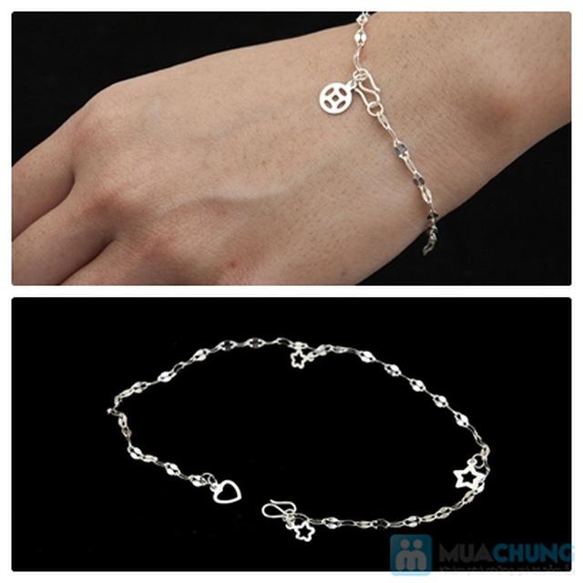 Lắc bạc đeo tay - Bạc 925 cao cấp- CHo bạn gái thêm sang trọng và tự tin - Chỉ với 80.000đ - 2