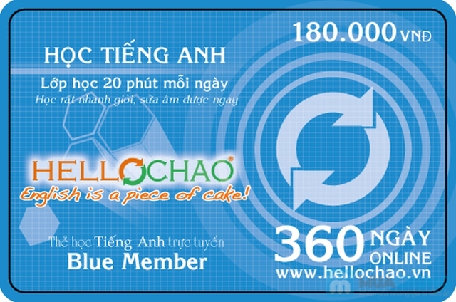 Thẻ học tiếng Anh trực tuyến HelloChao.vn cho 360 ngày,  tặng thêm 01 thẻ học 180 ngày - Chỉ 100.000đ - 13