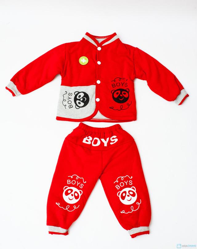 Bộ quần áo bông trần ấm áp cho bé - 8