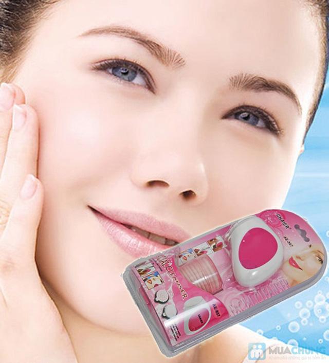 Máy rửa mặt massage mini 2 trong 1 tiện dụng, cho bạn làn da láng mịn, xua tan mệt mỏi - Chỉ 95.000đ/01 chiếc - 5
