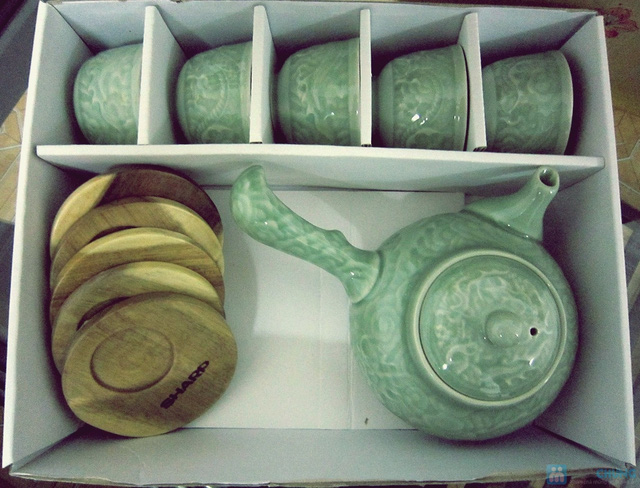 Bộ ấm trà men ngọc Hàn Quốc - quà tặng ý nghĩa cho ngày 20/11 - Chỉ 135.000đ/bộ - 8