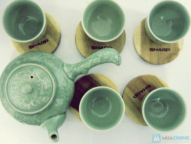 Bộ ấm trà men ngọc Hàn Quốc - quà tặng ý nghĩa cho ngày 20/11 - Chỉ 135.000đ/bộ - 1