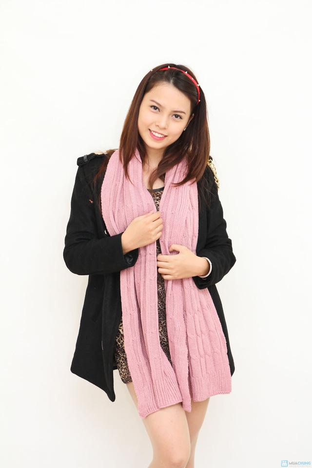 khăn len ấp áp cho bạn nữ. - 3