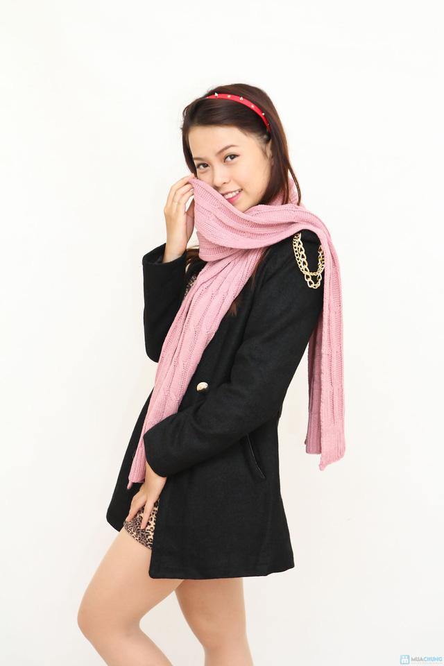 khăn len ấp áp cho bạn nữ. - 1