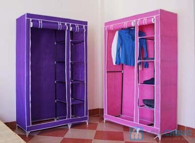 Tủ vải đựng quần áo cao cấp - 2