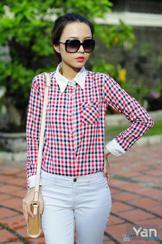 Tự tin khoe cá tính với áo sơ mi nữ sọc caro Yan Fashion - Chỉ 129.000đ/01 Chiếc - 8