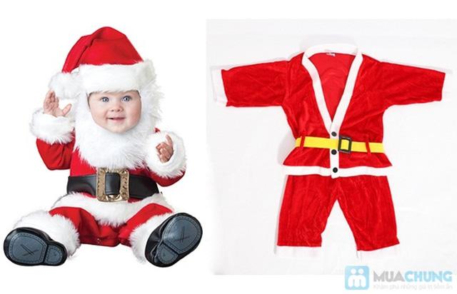 Bộ quần áo ông già Noel bằng vải nhung cho bé vui Giáng sinh - Chỉ 77.000đ/01 bộ - 4