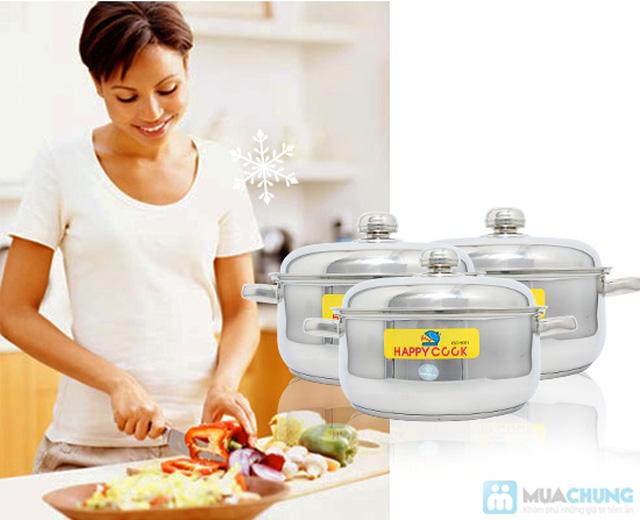 Bộ nồi + xửng hấp 2 trong 1 Happy Cook, món quà ý nghĩa cho việc nội trợ - Chỉ 285.000đ - 7
