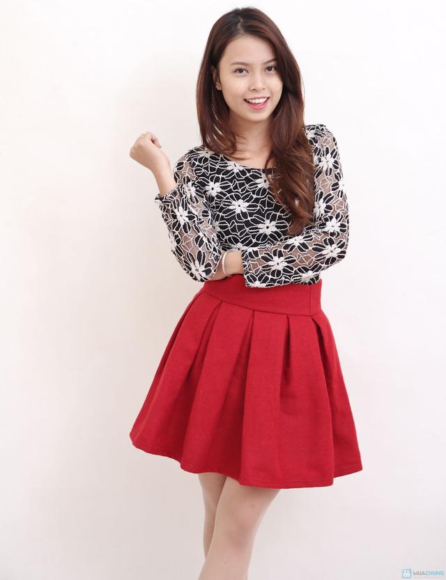 Chân váy dạ xòe Hàn Quốc - Chỉ với 145.000đ - 3