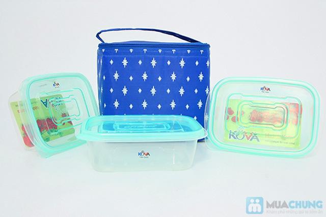 03 hộp nhựa Kova và Túi giữ nhiệt  -  Cho những bữa cơm trưa của bạn luôn nóng hổi - Chỉ 70.000đ/ 01 bộ - 1