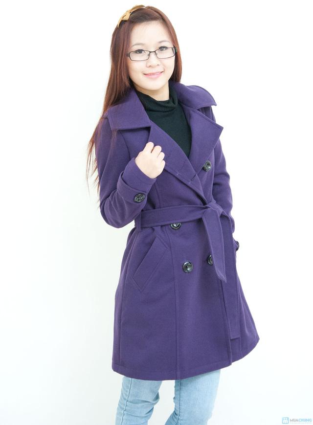 Áo dạ măng tô dạ hai lớp thời trang và thanh lịch - Chỉ với 345.000đ - 6