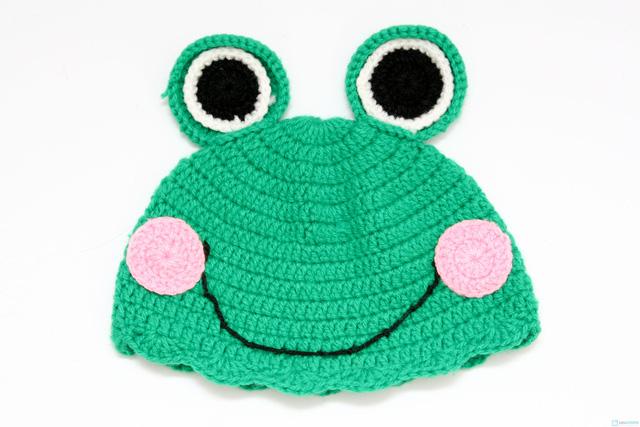 Mũ len hình con vật móc tay cho bé - 5