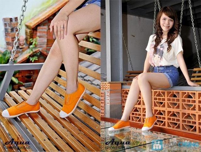 Giày nữ Aqua - Kiểu dáng Oxford 8 lỗ cá tính, không cần cột dây (size 35, 41) - Chỉ 152.000đ/đôi - 2