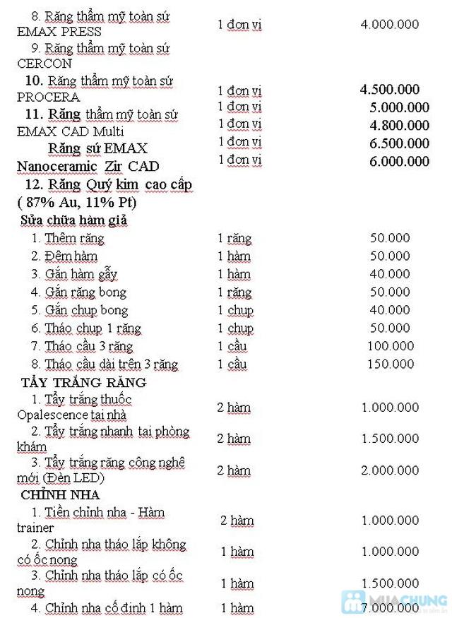 Dịch vụ bọc răng giả Titan tại Nha khoa Hà Nội - Chỉ với 720.000đ - 3