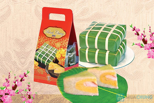 Cặp bánh chưng xanh ngày tết - Thực phẩm không thể thiếu trong mâm cỗ ngày tết - Chỉ 30.000đ/ 01 cặp - 4