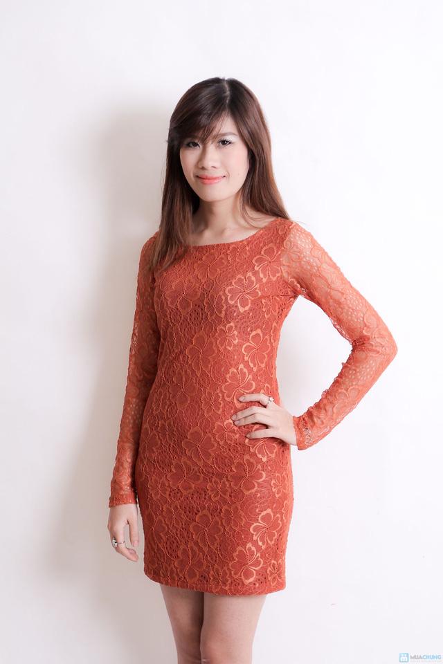Váy ren cà rot cho nữ - 2
