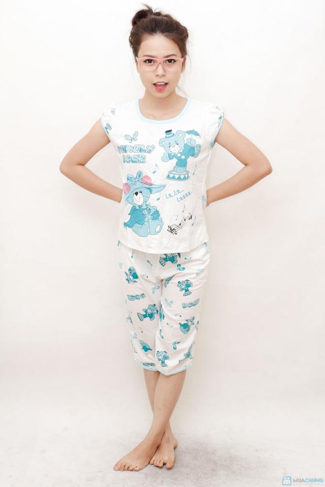 Combo 2 bộ đồ ngủ hoạt hình hoặc chấm bi cho bạn gái - 10