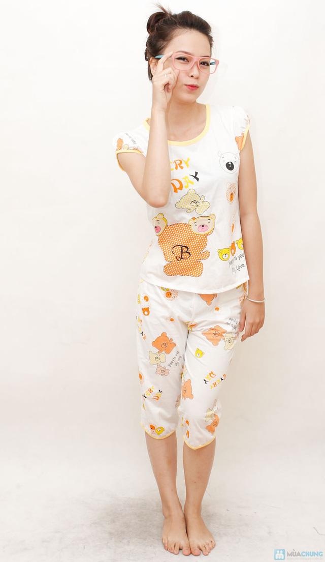Combo 2 bộ đồ ngủ hoạt hình hoặc chấm bi cho bạn gái - 1