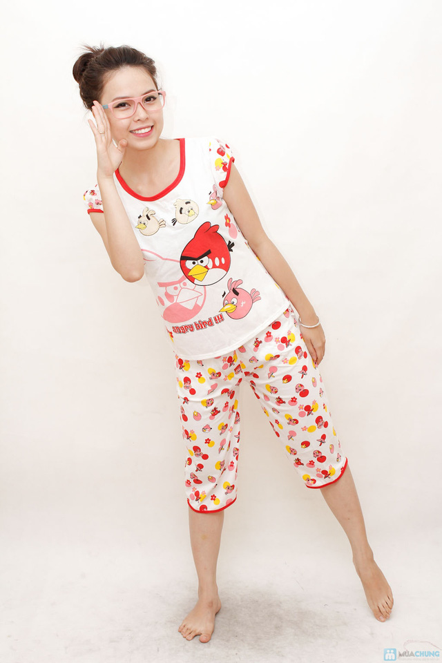 Combo 2 bộ đồ ngủ hoạt hình hoặc chấm bi cho bạn gái - 4