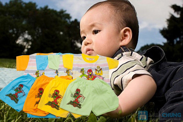 Combo 2 bộ đồ thun Siêu Nhân cho bé trai 1 tuổi - 1