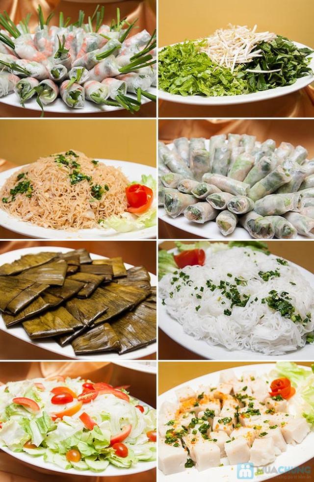 Buffet Gánh dành cho buổi trưa tại Khách sạn Bông Sen Quận 1 với hơn 40 món ăn đặc sắc 3 miền - Chỉ 319.000đ/ 1 người - 1