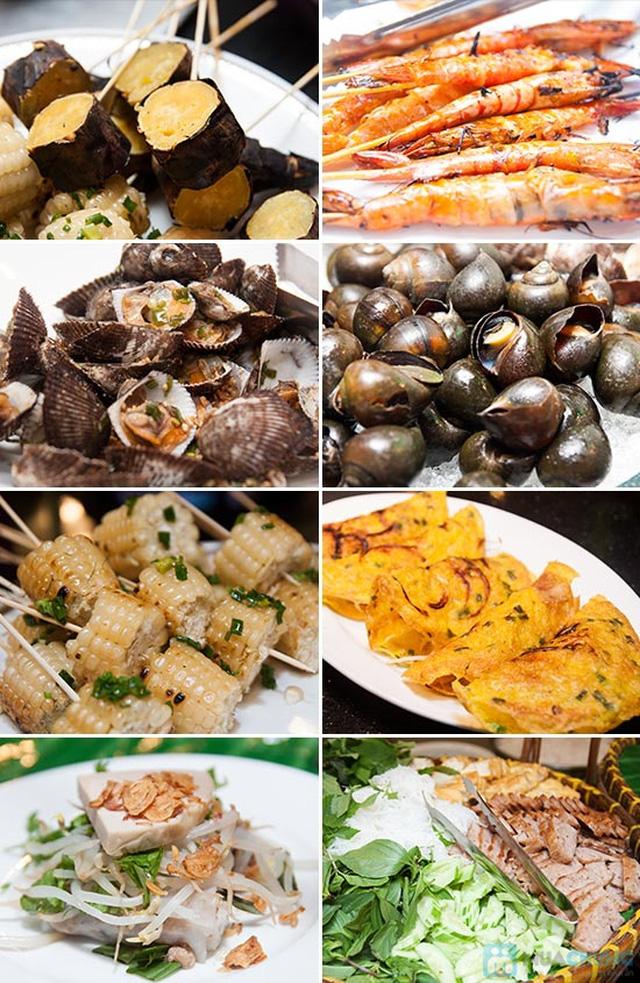 Buffet Gánh dành cho buổi trưa tại Khách sạn Bông Sen Quận 1 với hơn 40 món ăn đặc sắc 3 miền - Chỉ 319.000đ/ 1 người - 4