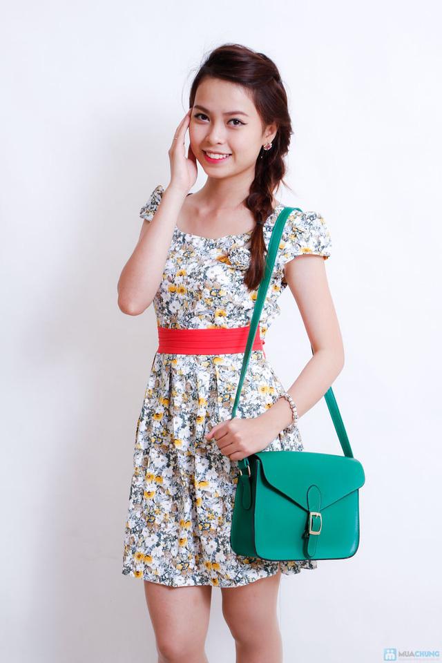 Váy hoa dịu dàng xếp ly - 2
