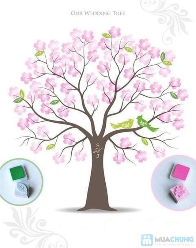 Voucher đặt bộ Khung tranh wedding tree in dấu vân tay hoặc chữ ký - 6