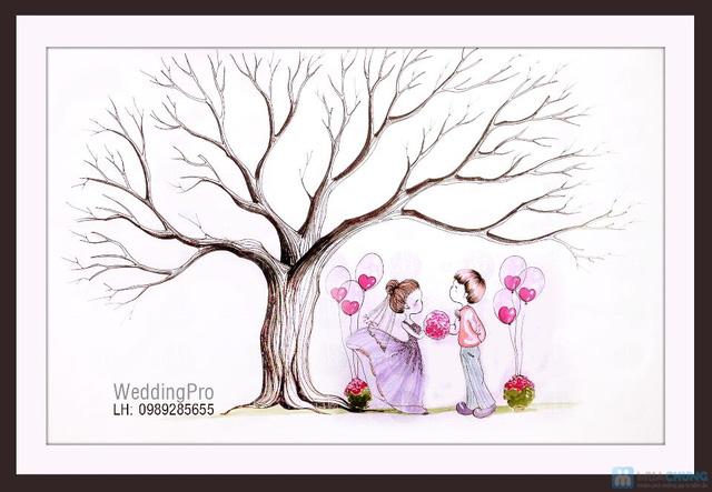 Voucher đặt bộ Khung tranh wedding tree in dấu vân tay hoặc chữ ký - 8