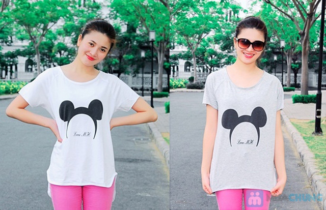 Áo thun hình chuột Mickey form rộng năng động cho nữ - Chỉ 95.000đ/01 chiếc - 8