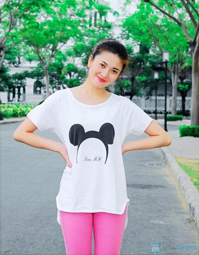 Áo thun hình chuột Mickey form rộng năng động cho nữ - Chỉ 95.000đ/01 chiếc - 3
