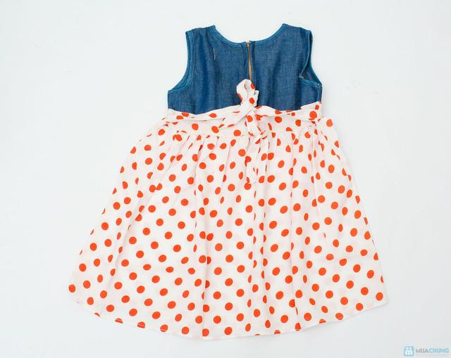 Váy denim pha lanh cho bé gái - 2