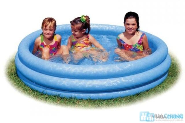 Bể bơi bơm hơi Intex xanh thủy tinh(1,14x25) - 2