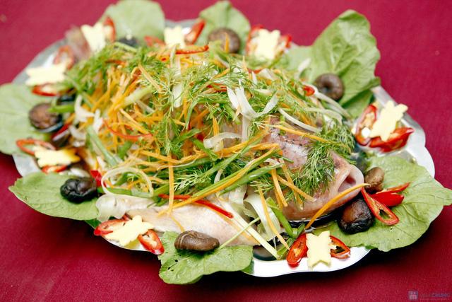 Thơm ngon với Cá Điêu Hồng hấp tàu xì - 1